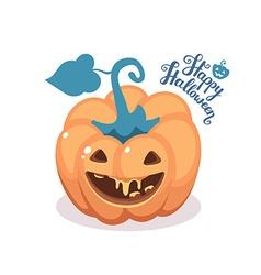 halloween of decorative orange pumpkin with vector image