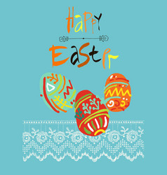 happy easter greeting card or display vector image vector image