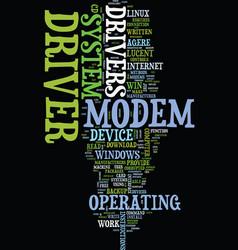 Modem driver text background word cloud concept vector