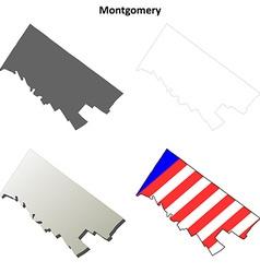 Montgomery map icon set vector