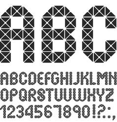 Mosaic original Alphabet vector image vector image