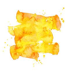 orange watercolor brush stroke background vector image