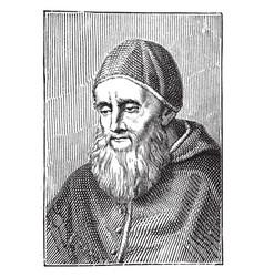 Pope julius ii vintage vector