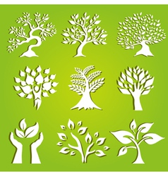 set of 9 ecology icons vector image