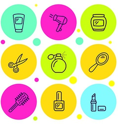 set of icons beauty vector image