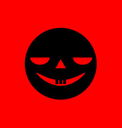 spooky smiley face vector image vector image