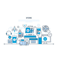 Store and online purchase vector