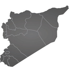 syria map vector image vector image