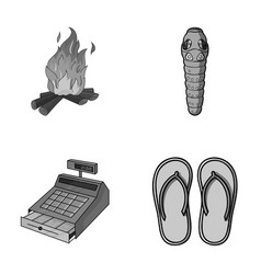 tourism trade and other monochrome icon in vector image