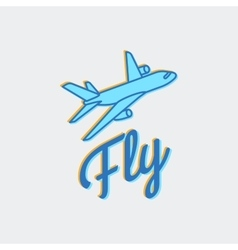 Travel or airplane logo icon vector