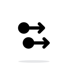 Two finger drag right gesture abstract icon vector