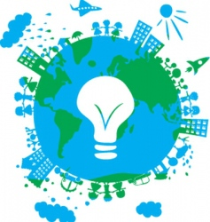 world idea vector image