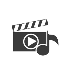 Clapper media player icon vector