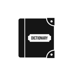 English dictionary icon simple style vector