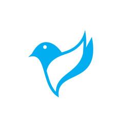 abstract bird icon logo image vector image