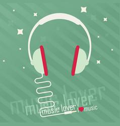 Audio headphone flat vector