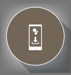 Phone settings download and install apps vector