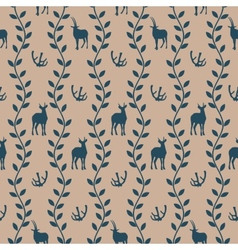 Seamless pattern in vintage style vector image