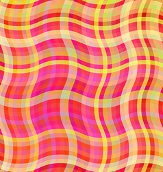 Colorful waves background tablecloth vector