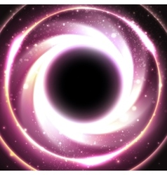 Black hole at the galactic center space vector