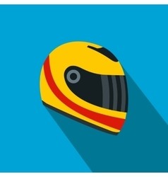 Racing helmet flat icon vector