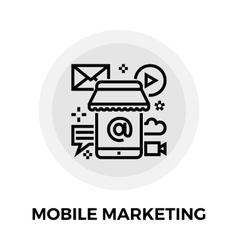 Mobile marketing line icon vector
