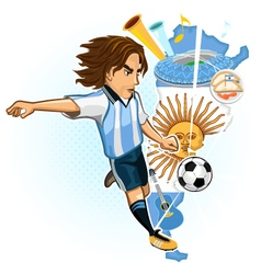 Argentine argentina soccer cup vector