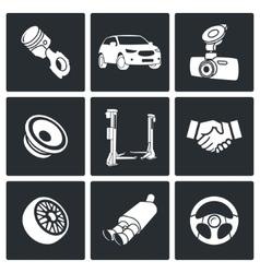 Auto service Icon set vector image