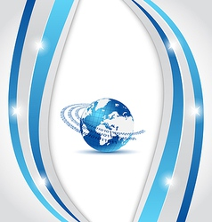 Business card with Earth planet vector image