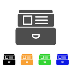 Card index flat icon vector