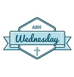 Catholic ash wednesday greeting emblem vector
