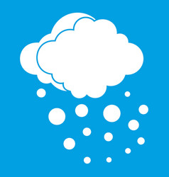 Cloud with hail icon white vector