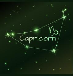 Earth symbol of capricorn zodiac sign horoscope vector