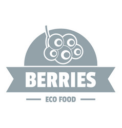 eco berries logo simple gray style vector image vector image