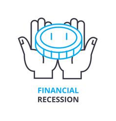 Financial recession concept outline icon linear vector