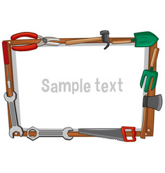 Frame template with different tools vector