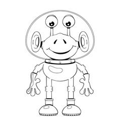 Funny cartoon alien in spacesuit vector image vector image