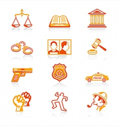 law and order icons vector image vector image