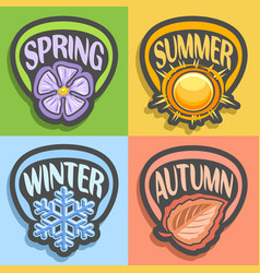 Logo four seasons vector