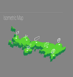 Map united kingdom isometric concept vector