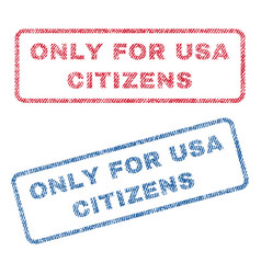 Only for usa citizens textile stamps vector