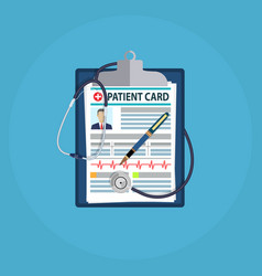 patient card concept vector image vector image