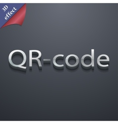 Qr code icon symbol 3d style trendy modern design vector
