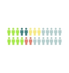 Social media people icons think different vector image vector image