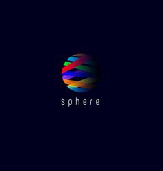 sphere l media logo vector image
