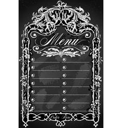Vintage Blackboard for Bar or Restaurant Menu vector image vector image