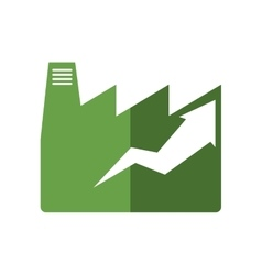 factroy industry arrow green plant icon vector image