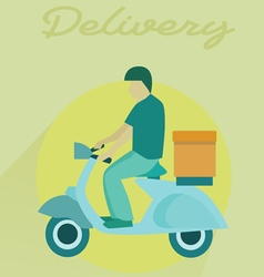 Delivery transport moto bike motorcycle vector