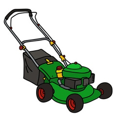 Green garden lawn mower vector image