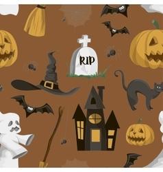 Halloween set pattern vector image